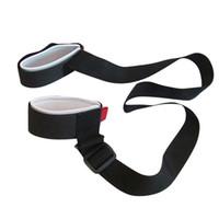 Wholesale Ski Boards - Hot Adjustable Ski snowboard easy backpack cross country Ski Pole Shoulder Hand Carrier Lash Handle Dual Board Strap bag Black