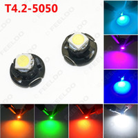 FEELDO Auto Car T4.2 1SMD 5050 Chip LED Painel Painel Painel LED Light Bulb 7-Color # 4760