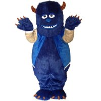 Wholesale Sullivan Costume - Monsters University James P. Sullivan mascot costume EMS free shipping, high quality carnival party Fancy plush walking mascot adult size.