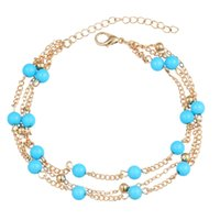 Wholesale Blue Alexandrite - sale 2016 Real Limited Classic Romantic Casual sport The Electricity Supplier Accessories Retro All-match Blue Beads Old Simple Double