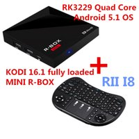 Wholesale Quad Core Keyboard - Internet TV Fully Loaded Mini Quad Core S805 Rockchip MXQ Android TV Box R-box RII I8 Wireless Keyboard Fly Air Mouse Combo