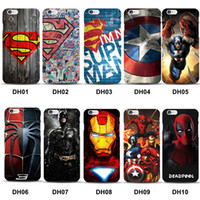 Housse Marvel Superman pour iPhone 8 Case Batman Dark Knight Spider Super Man Capitaine Amérique pour iPhone 7 Plus 6S 6 5 5s