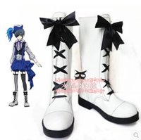 Circo Kuroshitsuji Ciel Phantomhive costume cosplay Butler all'ingrosso-Black Boots Shoes Lolita
