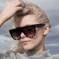 Wholesale Wholesale Sunglasses Italy - Wholesale-2016 New Italy Luxury Brand Designer Fashion Women Sunglasses Oversize Female Flat Top Vintage Ladies Sun Glasses Men Eyewear