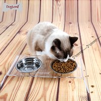 Wholesale Thick Stainless steel cat bowl small dog puppy food feeder