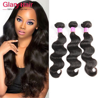 Wholesale indian remy wavy hair weave for sale - Group buy 8a Grade Brazilian Body Wave Weave Remy Human Hair Bundles Indian Mink Brazilian Peruvian Hairs Unprocessed Hair Weft Bundle Wavy Free Bangs