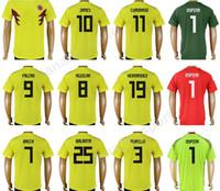 c223d58d5e3 Soccer Men Short 2018 Word Cup Colombia Jerseys Soccer 10 JAMES Football  Shirt 9 FALCAO 11