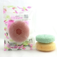 Wholesale magic colors cosmetics for sale - Group buy Big round Konjac Sponge Moistening Magic Fibre Cosmetic Puff Soft Moistening Natural Cleansing Tools A Variety Of Colors rx J R