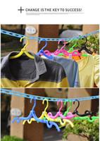 Wholesale Double Garage - Travel portable plastic folding hanger hanger magic hanger tourism simple clothes hanging racks incognito