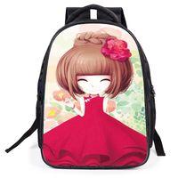 Wholesale Princess Peach Backpack - 2017 new children's cartoon bag primary school student backpack cute girl princess shoulder bag illustration school bags