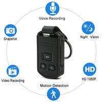 mini kamera tuşu toptan satış-HD 1080 P 12MP Araba Anahtarı Ile Mini Kamera Araba Anahtarlık Kamera Gece Görüş Hareket Algılama Video Kaydedici Taşınabilir Güvenlik DVR Dadı Kam