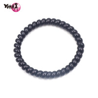 Wholesale Telephone Line Ponytail - Yokii Fashion classic black Telephone Line Elastic Hair Tie Elastic Hair Band Ponytail Holders Hair Accessories Bracelet