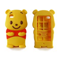 Wholesale Pooh 3d - 3D Cute Cartoon Winnie Pooh Cover For Iphone 7 6 6s Plus Samsung S7 S6 edge Huawei High Quality Soft Silicone Case OPPABG