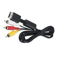 Wholesale rca video lead online - 1 M RCA TV Cable AV lead Sound Video for Sony For Playstation PS2 PS3