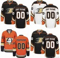 Wholesale Toddler Sale Jerseys - Factory Outlet Men Women Youth Toddlers Customized Anaheim Ducks Orange White Black Best Quality Hot Sale Cheap Stitched Ice Hockey Jerseys