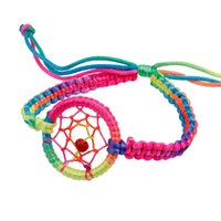 Wholesale Hot News Women - Wholesale-Hot Sale, Autumn Handmade Bracelet Women Brand Bangle Weave Fashion Bracelets 2016 News Campanula Dream Catcher Charm For Girl