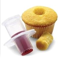 Wholesale Plunger Pastry - Cupcake Cake Corer Plunger Cutter Pastry Decorating Divider Mold Creative DIY Cake Mold Wholesale Kitchen Tools