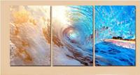 рисовать океанскую стену оптовых-Без рамы современная настенная живопись Home Decor ocean surface wave Sea Landscape холст гостиная Picture Art HD печать живопись