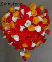 kolye lambası yapmak toptan satış-Sanat Tasarım Petunya Çiçek Cam Lambası custmer Yapımı Boyut LED ışıklar El Üflemeli Cam kolye avize