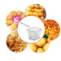 Wholesale Kitchen Steel Basket - Food Grade Mini Chips Fryer Basket Stainless Steel Fryer Serving Food Presentation Basket Kitchen French Fries Baskets CCA6429 60pcs