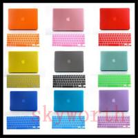 macbook hava koruma kılıfı toptan satış-Mat Ön Arka Tam Vücut Hard Case + Silikon Klavye Koruyucu Macbook 15.4 için