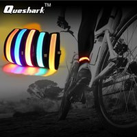 Atacado- Night Running Ciclismo Reflective Glow Tornozelo Wrap Correias Led Flash Fixed Pants Belt Led Pulseira De Esportes Ao Ar Livre Wristband Luz