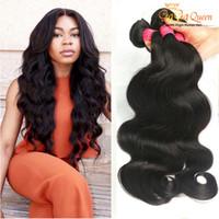 ofertas de paquetes de tejido virgen al por mayor-Grado 8A Body Wave Virgin Hair 4 Bundle Deals Brasileño Extensiones de cabello humano Mojado y ondulado Tejidos brasileños para el cabello