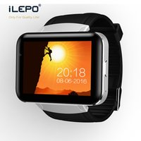 Wholesale Heart Telephone - DM98 mens watch with lage display telephone call GSM WCDMA smart Android system big battery bluetooth 4.0 fitness tracker wrist watch phone