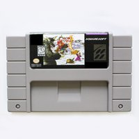 Wholesale Big Bite - New Brand Chrono Trigger 16 bit Big Gray Super Game Card For NTSC Game Player