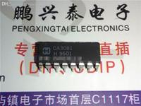 chip de transistor al por mayor-CA3081 / CA3081EX. CA3081E, circuitos integrados de TRANSISTOR DE SEÑAL PEQUEÑA CHIP / doble paquete de plástico de inmersión de 16 pines. PDIP16. Circuitos integrados