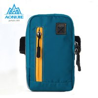 Wholesale Strap Bags For Men - Wholesale-AONIJIE Arm Bags For Outdoor Running Coins Purse Sports Phone Mobile Wallet Key Package With Arm Shoulder Strap Free shipping