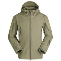 Wholesale soft skin tactical jacket online - Lurker Shark Skin Soft Shell V4 Tactical Jacket Men Waterproof Windproof Warm Coat Camouflage Hooded Camo Army Clothing