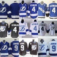 Wholesale Light Stops - Factory Outlet Men's Tampa Bay Lighting #4 Lecavalier #9 Tyler Johnson #9 Dovonie #Blank Blue White Newest ice hockey jerseys free shipping