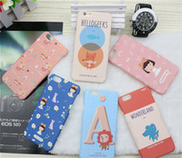 Wholesale Cute Girls Mobile Cases - Cartoon Cute Little Girl Mobile Phone Case For Iphone7 6 6s 5s plus Waterproof Ultrathin PC Soft Cell Phone Cover FingerprintProof Protector
