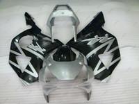 Wholesale Cbr954rr Plastics - Fairing Kits CBR900 954 02 Plastic Fairings CBR954RR 03 Black Silvery Body Kits for Honda Cbr954RR 2002 2002 - 2003