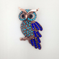 Wholesale Clothing Owl Designs - Wholesale- 2016 New Design Gift Exquisite Vintage Retro Owl Brooch Women Chic Purple Crystal Broches Charm Clothing Accessories