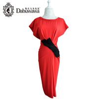 Wholesale Elegant Knee Length Slim Dresses - Dabuwawa Sleeveless Bodycon Dresses Pure Sexy Tight Office Dress Designs For Slim Ladies Knee-Length Elegant Vintage Dresses For Work