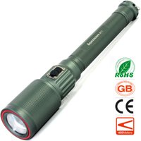 Wholesale Intelligent Fish - Zoomable LED Flashlight T6 3 Modes High Power Telescopic Zoom Intelligent Electtric Torch Strong Light 18650 Rechargeable Battery Lamp Gift