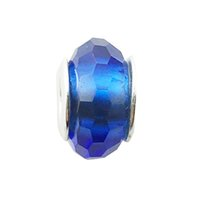 Wholesale Fascinating Holidays - 3 Styles Fascinating Blue Pink Purple Glass Charms Fit Pandora Charm Bracelets 100% 925 Sterling Silver Beads DIY Jewelry