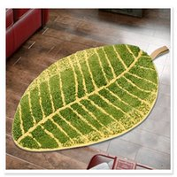 Wholesale cartoon green leaves Washable New Thick micro fabric Carpet Shaggy Rugs Bathmat Bathroom Colours for living bed room anti slip