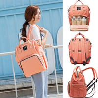 Wholesale Multifunction Diaper Bags - Mommy Backpack Nappies Bags Fashion Maternity Multifunction Diaper Backpacks Storage Bags Large Volume Outdoor Travel Bags 8 Color WX-B30