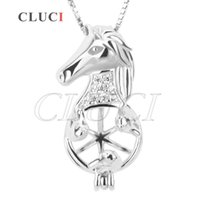 Wholesale 925 sterling horse pendant - New locket pendant of 925 Sterling Silver Horse Head Pack of 3pcs, 22.32*10.6*10.4mm