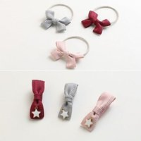 Wholesale Gift String Band - The little girl children hair bow string hair rope hairpin hairpin Girls Band baby duck clip headdress