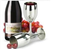 ingrosso vino rosso moderno-Calici in acciaio inox Calici da vino rosso Novità moderne Bicchieri da vino in acciaio inox Calici Bere tazze KKA1634