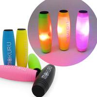 boîtes à cannes achat en gros de-Nouvelle Arrivée LED Fidget Rollver Fidget Spinners Mokuru Jouets De Bureau Balles De Décompression Bâtons Nouveauté Anxiété Jouets Jeu Retail Box WX-T22