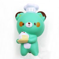 Wholesale Panda Jumbo Bun - New 20Pcs Lot Jumbo Panda 14CM Kawaii Chef Pastry Bear Squishy Bread Slow Rising Kid Toy Cartoon Cake Bun Wholesales
