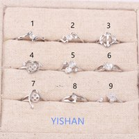 Wholesale Best Sale Ring - 2017 New Gifts Hot sale Fashion Style 925 Sterling Ring Holder Ring Setting for Pearls Best Gifts for Girls