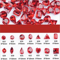 50 pz 50 PZ Red Crystal Nail Art Strass Punta Posteriore Non Hotfix Colla su Nails art decorazioni 14 Shapy Rhinestone Di Cristallo