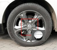 Wholesale dodge journey cars online - High Quality ABS mm Car Badge Dodge Logo Car Wheel Center Hub Caps Wheel Covers For DODGE JCUV Journey Silver