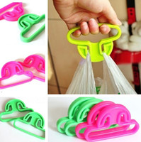 Wholesale Plastic Bag Carrier Handle - Carrying Handle Relaxed Carry Shopping Handle Plastic Bag Handler Carrier Mention Dishes household products 1000pcs lot IC764